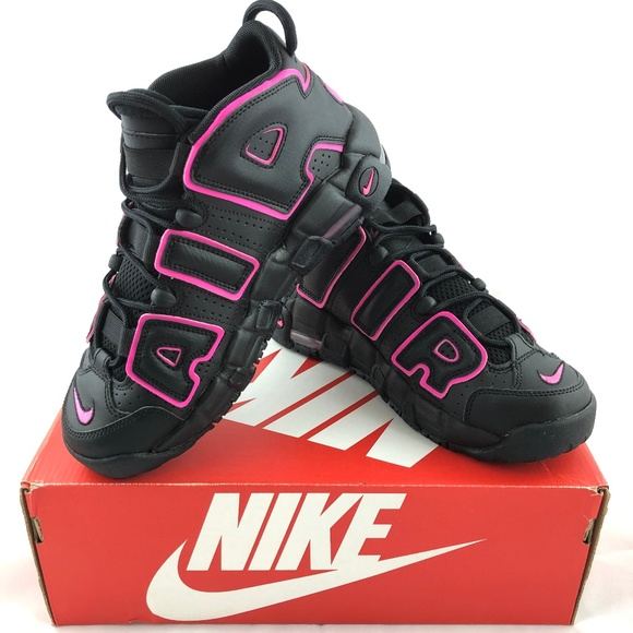 new product 183cc 9e82a Nike Air More Uptempo GS Black Pink